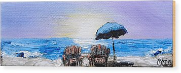 A Day At The Beach Wood Print by Melissa Torres