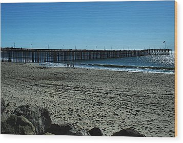 Wood Print featuring the photograph A Day At The Beach by Michael Gordon