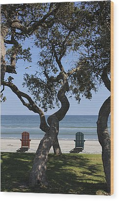 A Day At The Beach Wood Print by Mike McGlothlen