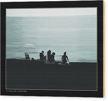 Wood Print featuring the photograph A Day At The Beach by Pedro L Gili