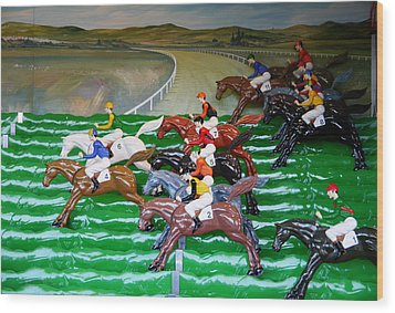 A Day At The Races Wood Print