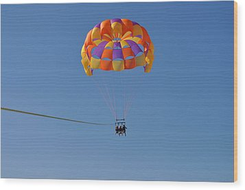 A Day In The Sky Wood Print by Amanda Just