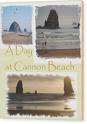 A Day On Cannon Beach Wood Print