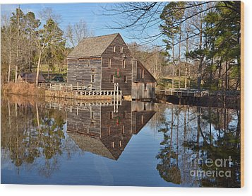 Wood Print featuring the photograph A December Reflection by Bob Sample