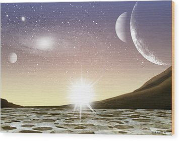 A Distant World Wood Print by Brian Wallace