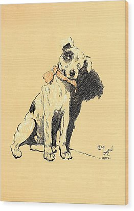 A Dog Day 1902-b Wood Print by D and I  Printing