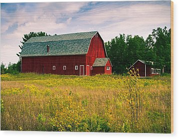 A Door County Barn Wood Print