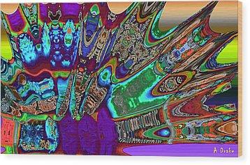 A Dragon Fan On Venus Wood Print by Alec Drake