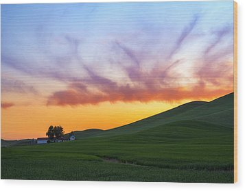 A Dragon's Sunset Wood Print