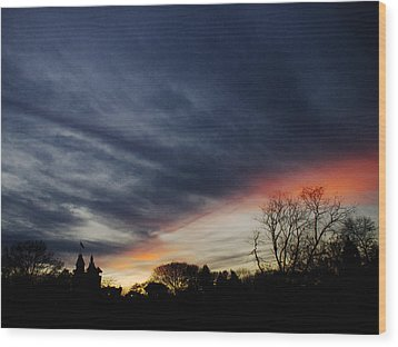 A Dramatic End Of The Day Wood Print by Cornelis Verwaal