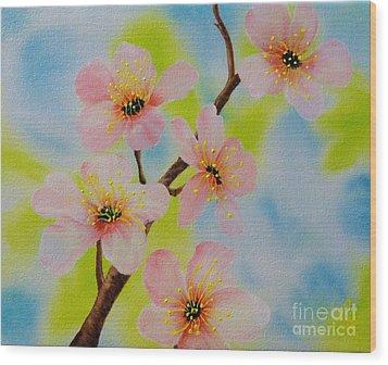 A Dream Of Spring Wood Print by Carol Avants