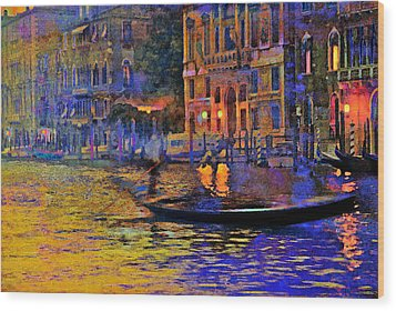 A Dream Of Venice Wood Print by Steven Boone