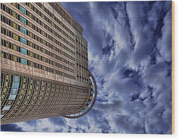 Wood Print featuring the photograph A Drifting Skyscraper by Ron Shoshani