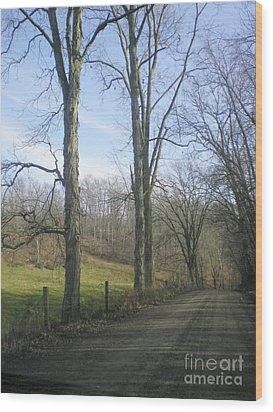 A Drive In The Country Wood Print by R A W M