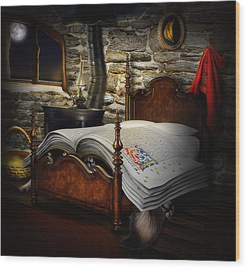 A Fairytale Before Sleep Wood Print by Alessandro Della Pietra