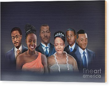 A Family Portrait Wood Print by Reggie Duffie