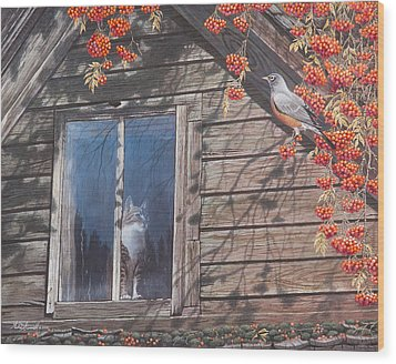 A  Feast For The Eyes Wood Print by Mike Stinnett