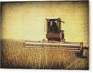 A Field For Harvest Wood Print by Lincoln Rogers