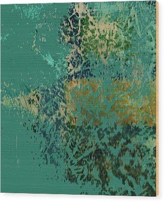 A Fish In A Dream Wood Print by Anne-Elizabeth Whiteway