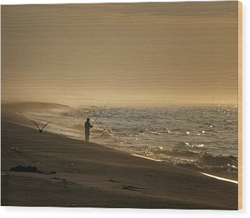 Wood Print featuring the photograph A Fisherman's Morning by GJ Blackman