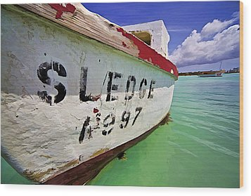 A Fishing Boat Named Sledge II Wood Print by David Letts