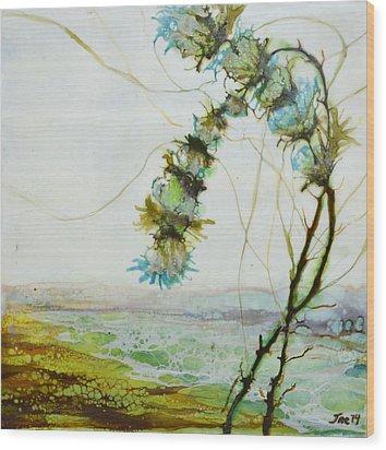 A Flower Dance Wood Print