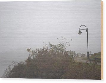 A Foggy Morning Wood Print