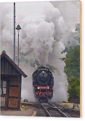 A Full Head Of Steam Wood Print