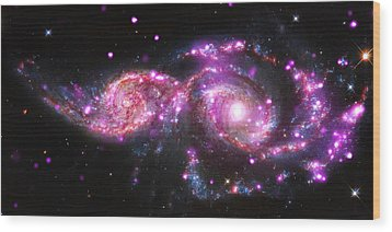 A Galactic Get-together Wood Print by Nasa