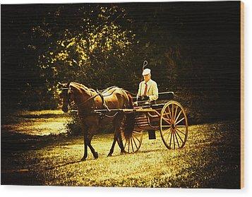 A Gentlemans Ride Wood Print by Karol Livote