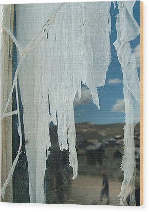 Wood Print featuring the photograph A Ghostly View by Tamyra Crossley