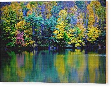 A Glorious Autumn Wood Print by Jon Van Gilder