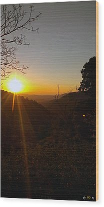 A Glorious Sunrise Over Nebo Wood Print by Edwin Vincent