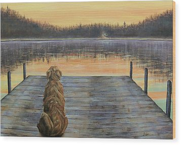 A Golden Moment Wood Print by Susan DeLain