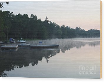 A Good Day For Canoeing Wood Print by Steve Knapp