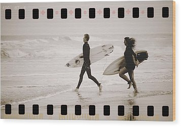 Wood Print featuring the photograph A Good Day To Surf by Alice Gipson