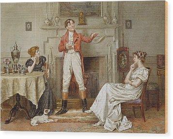 A Good Story Wood Print by George Goodwin Kilburne