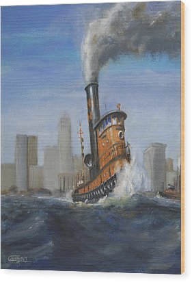 A Great Day For Tugs Wood Print by Christopher Jenkins