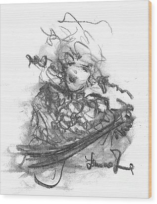 A Great Musician Wood Print