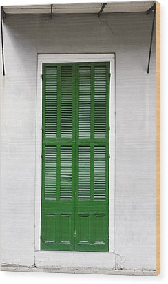 A Green Door In New Orleans Wood Print by Christine Till