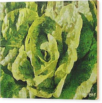 A Green Source Of Vitamins Wood Print by Dragica  Micki Fortuna