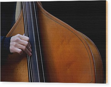 A Hand Of Jazz Wood Print by KG Thienemann