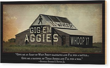 A Handful Of Aggies Wood Print by Stephen Stookey