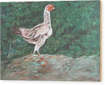 A Hen Wood Print by Usha Shantharam