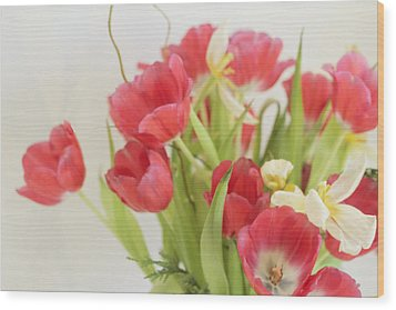 Wood Print featuring the photograph A Hint Of Spring by Rosemary Aubut