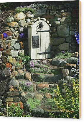 Wood Print featuring the photograph A Hobbit Home by Margaret Buchanan