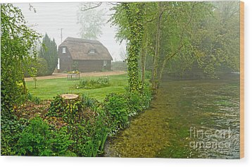 A Home By The River Anton Wood Print