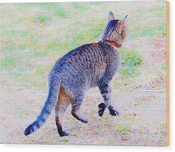 A Hunting We Will Go Wood Print by Judy Via-Wolff