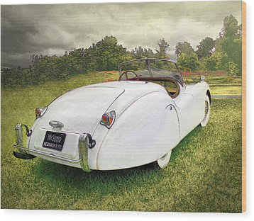 A Jag In The Park Wood Print