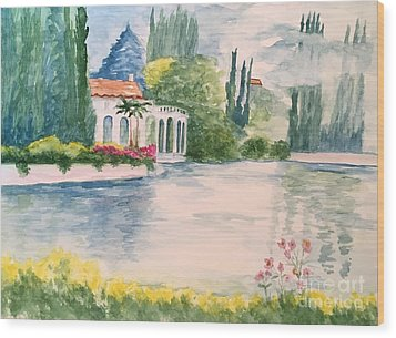 A Lake In Tuscany Wood Print by Lucia Grilletto